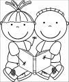 Free Educational Clipart Free Clip Art Children Reading Books 202×417 Kids We Coloring Page