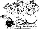 Friendship With Messages Best Friends Day Cards Wishes Coloring Page