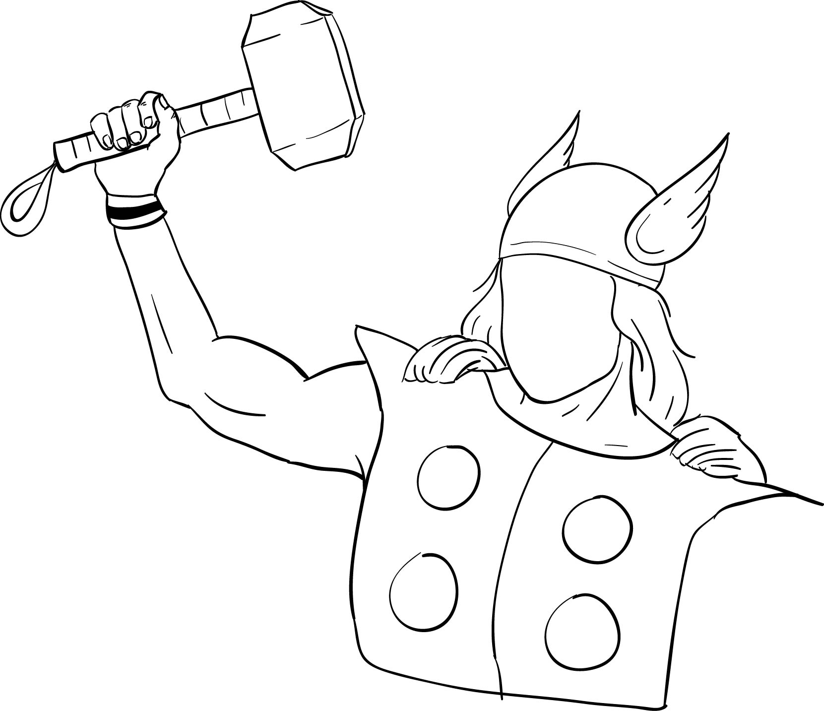 Funny Cartoon Best Character Coloring Page