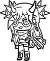 Gacha Life Character Girl Cartoons Gacha Life Coloring Page