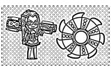 Gacha Life Characters Gacha Studio Gacha World Coloring Page