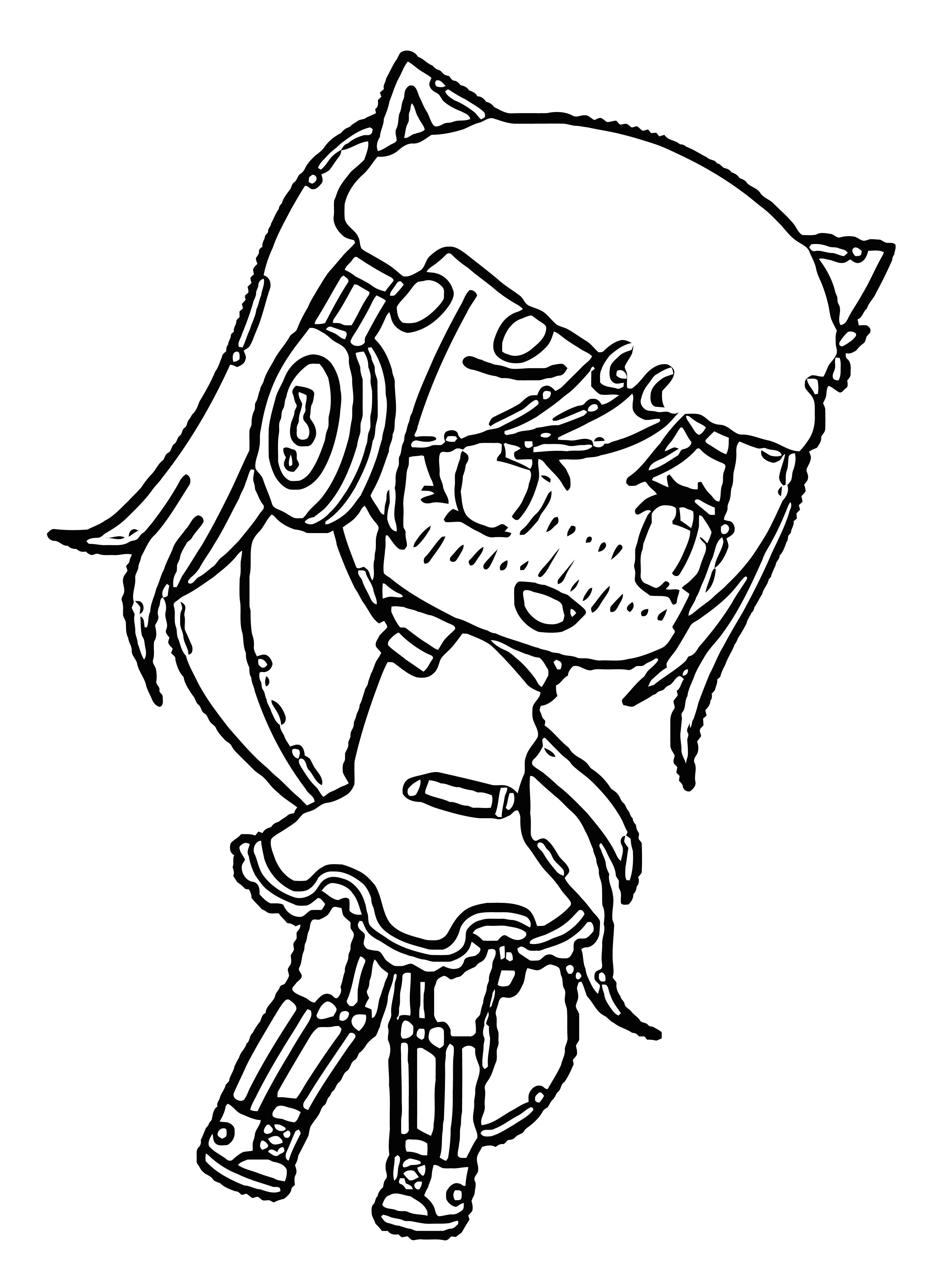 Gacha Life Characters Girl Hd Download Coloring Page
