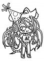 Gacha Life Cute Characters Transparent Cartoon Free Coloring Page