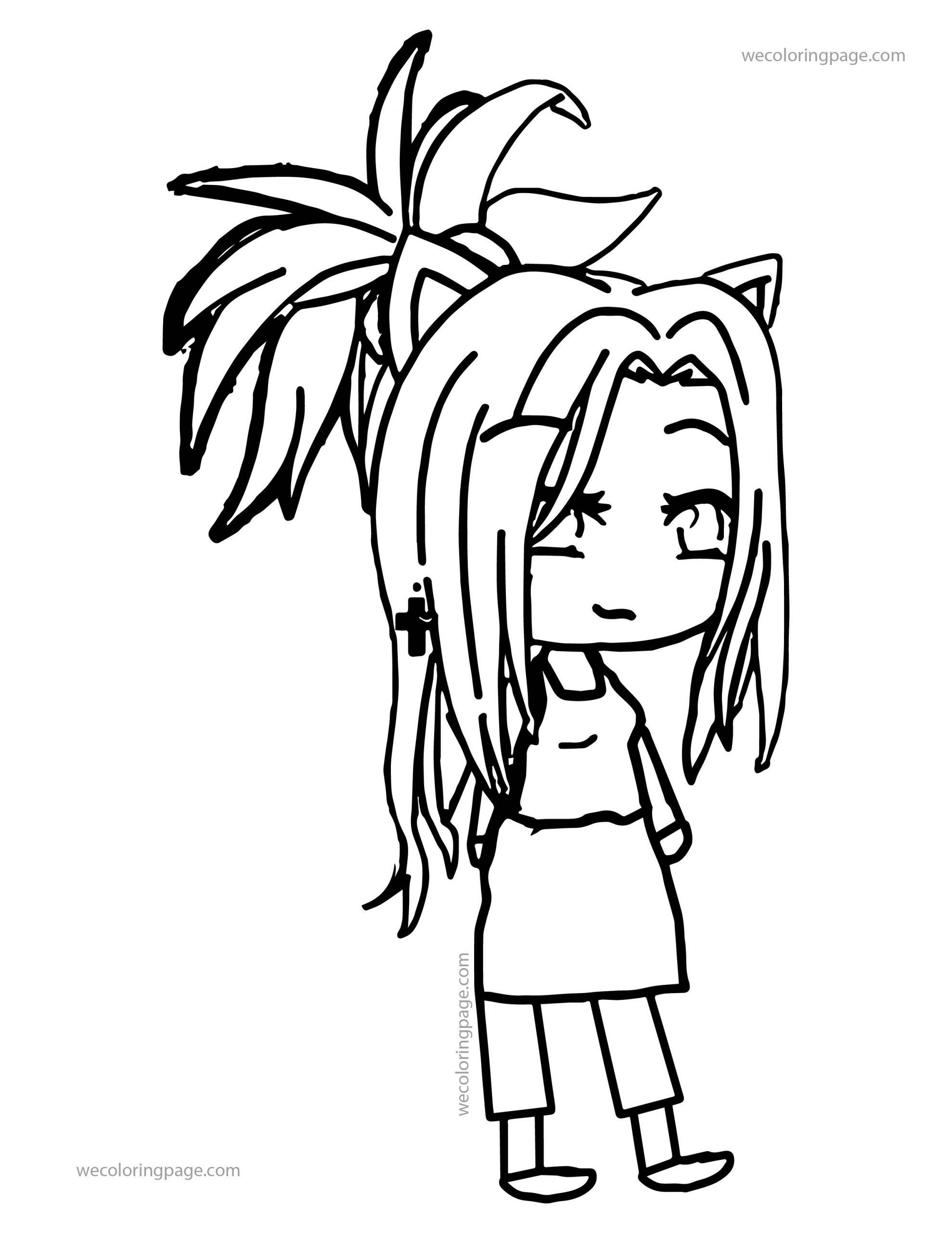 Gacha Life Girl Time Coloring Page