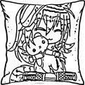 Gacha Life Pillow Love Coloring Page