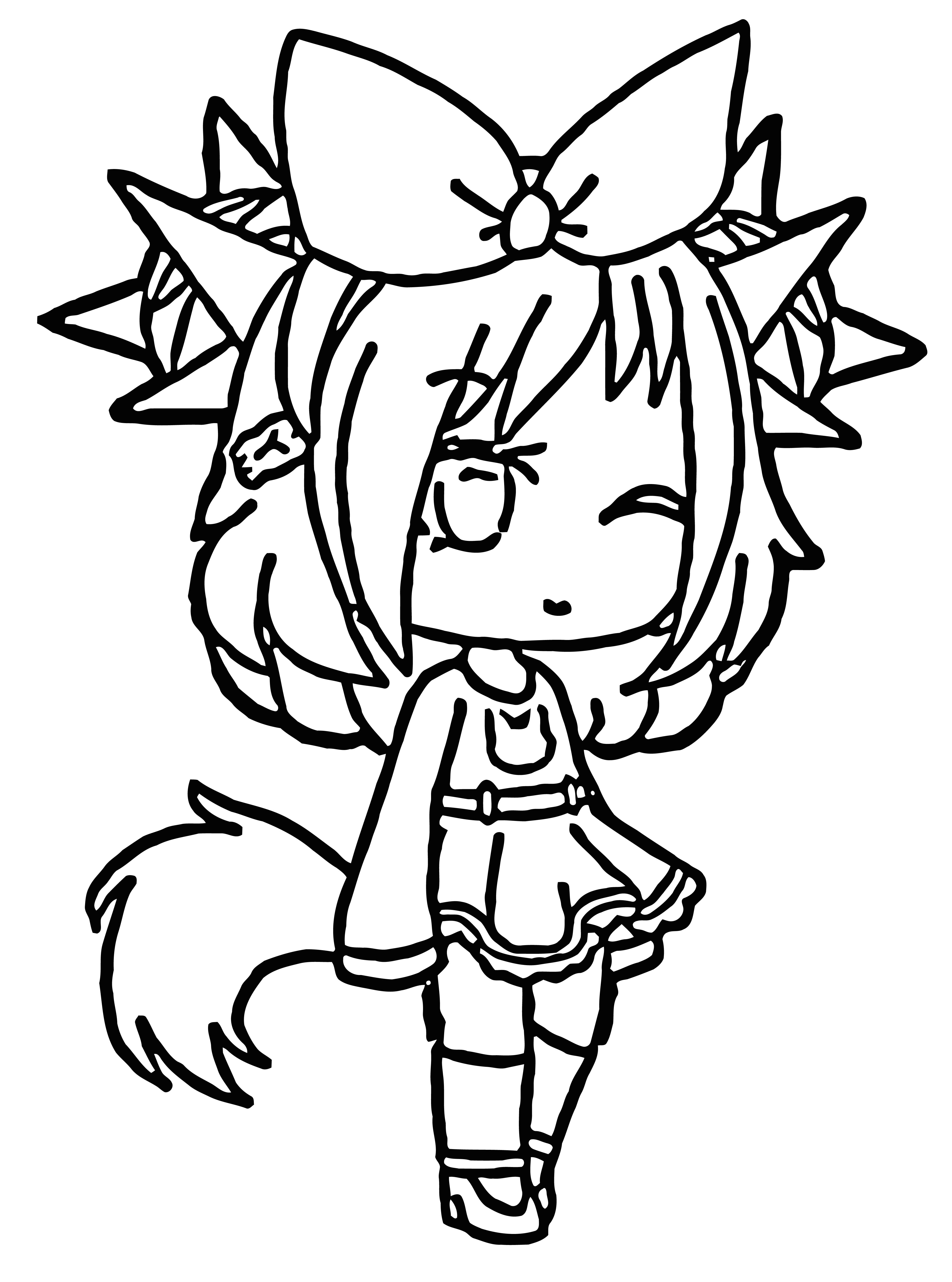 Gacha lifeclipart Black And White Coloring Page