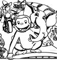 George of the Jungle cartoon follow that monkey and elephant coloring page