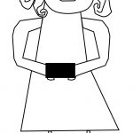 Gift Box Girl Coloring Page