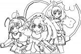 Glitter Force Coloring Page 002