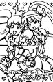 Glitter Force Coloring Page 016