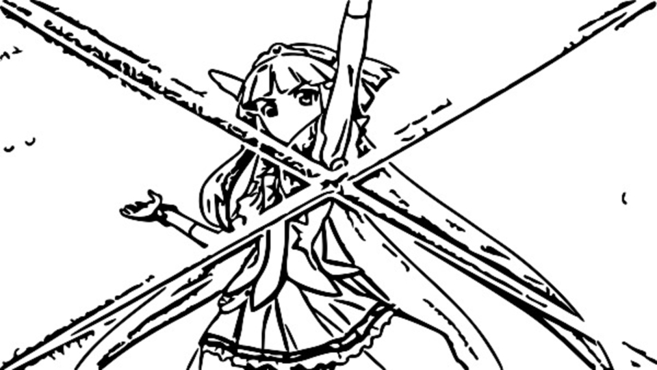 Glitter Force Coloring Page 026