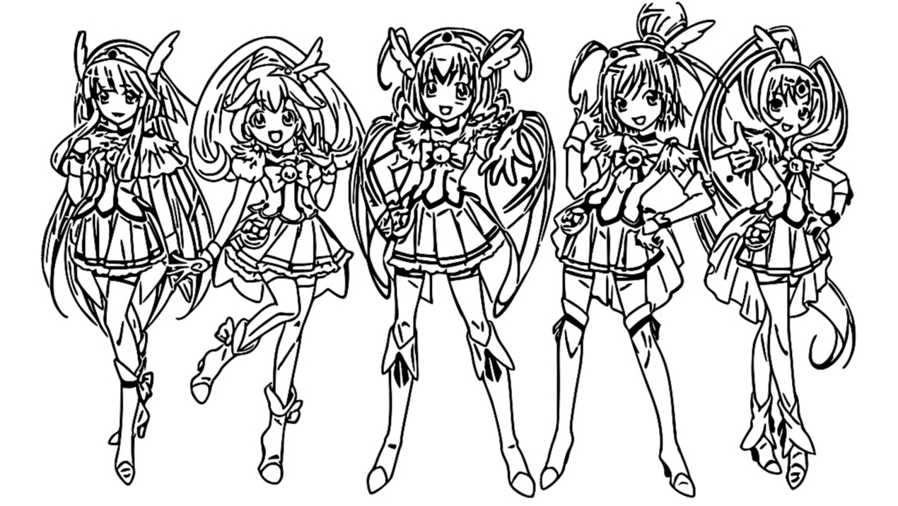 Glitter Force Coloring Page 067