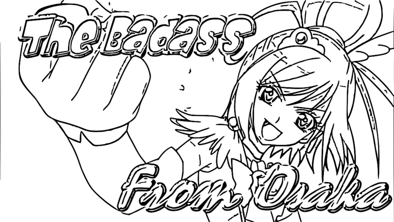 Glitter Force Coloring Page 092