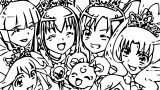 Glitter Force Coloring Page 133