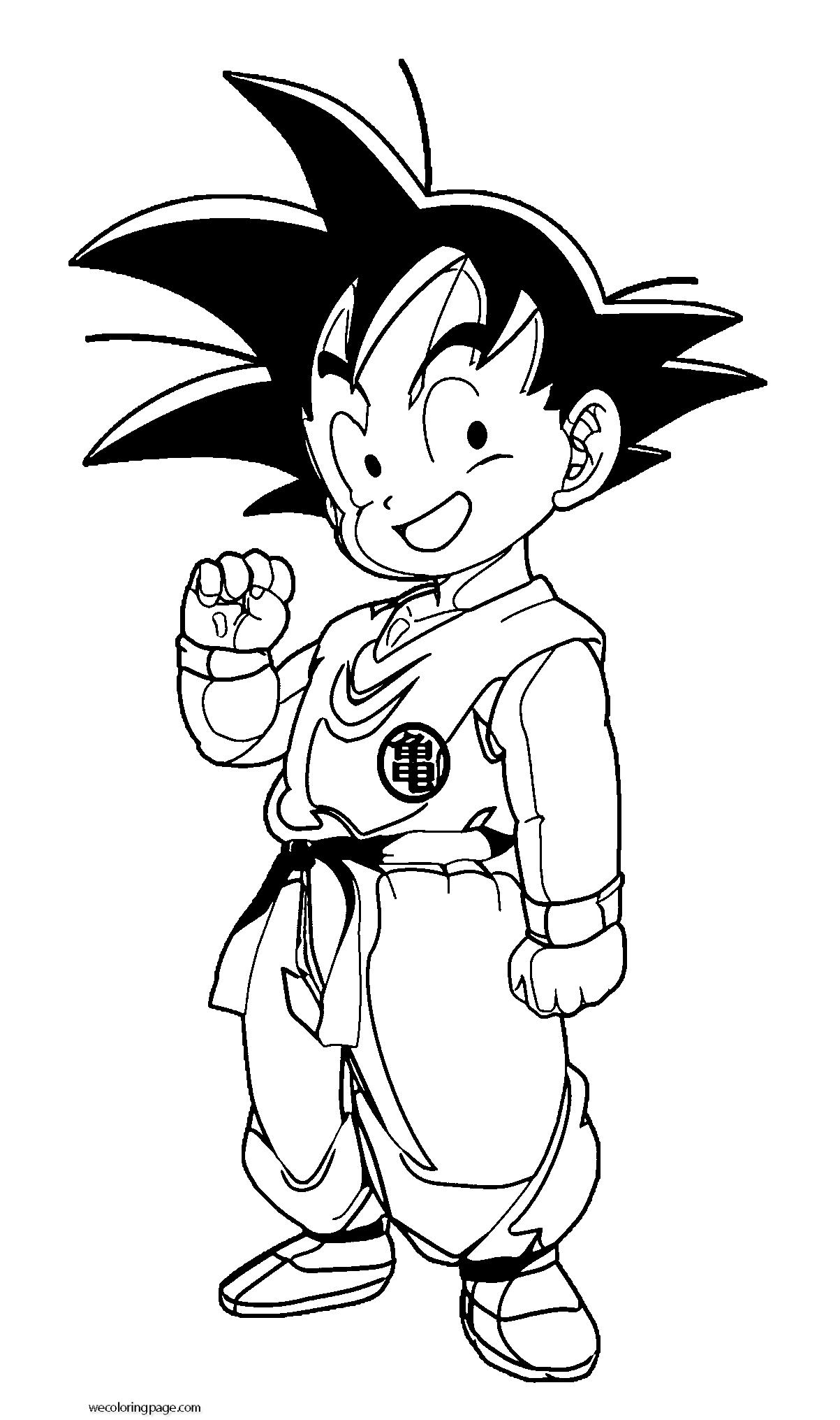 Goku We Coloring Page 010