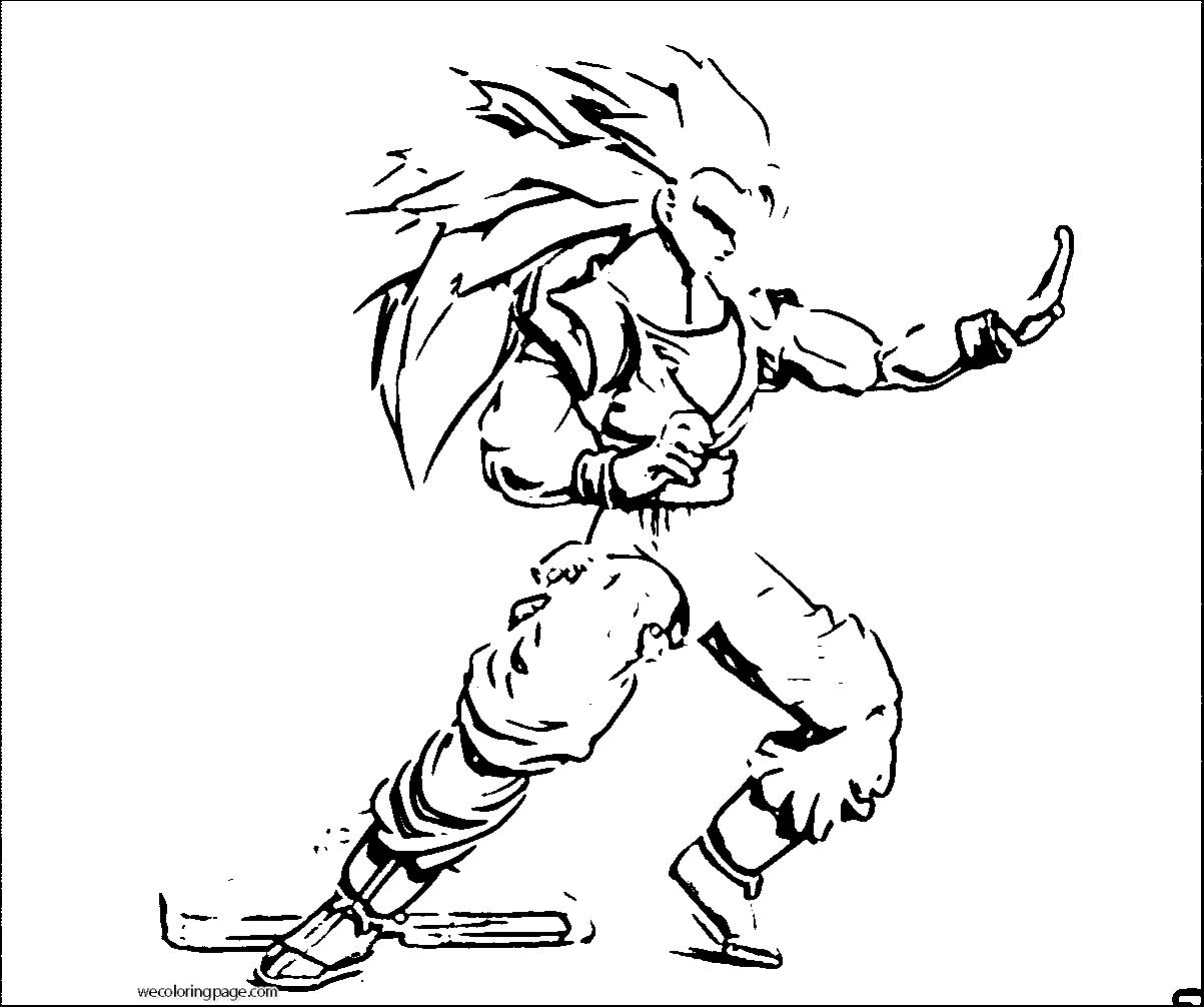 Goku We Coloring Page 019
