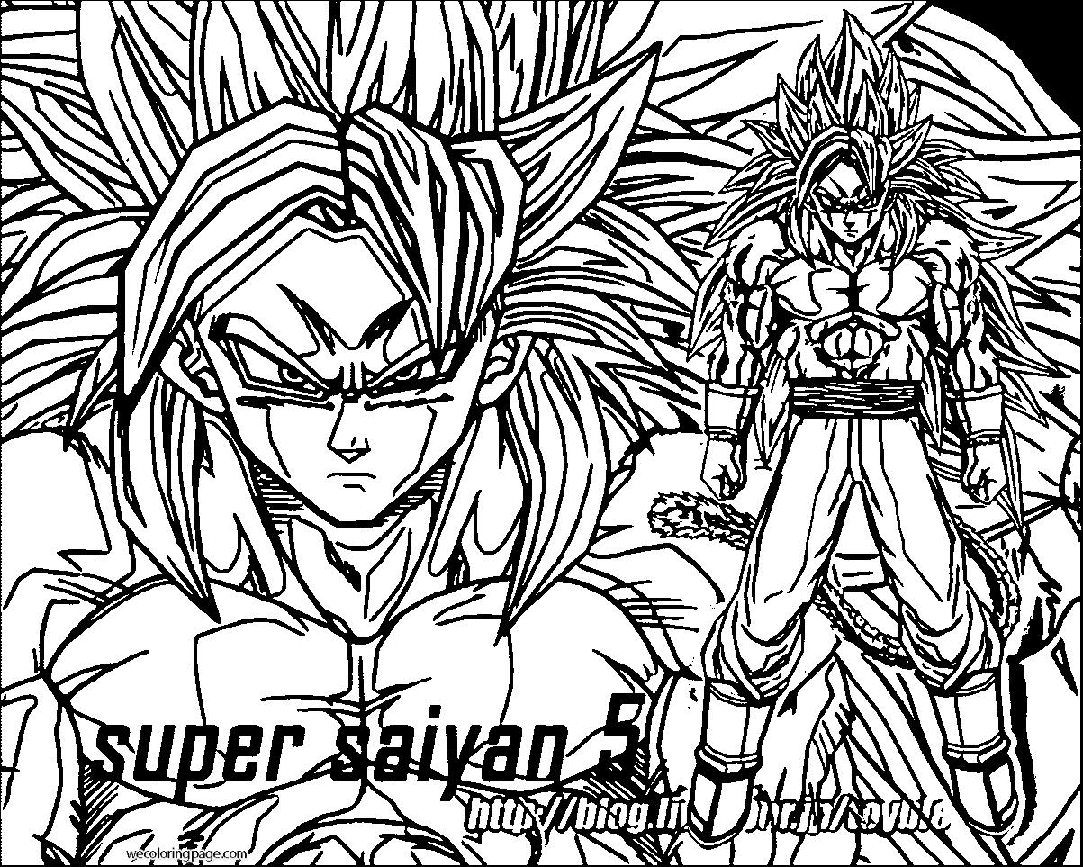 Goku We Coloring Page 035