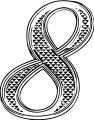 Gold Deco Number Eight Coloring Page