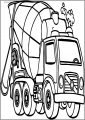 Good Cement Truck Free A4 Printable Coloring Page