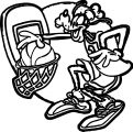 Goofy Playing Basketball Coloring Pages 03