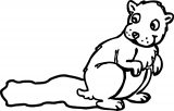 Groundhog Coloring Page 0003