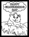 Groundhog Coloring Page 0011