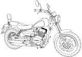 Guerrero GMX Motorcycle Bike Coloring Page