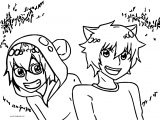 Gumball And Darwin Anime Version Coloring Page (2)