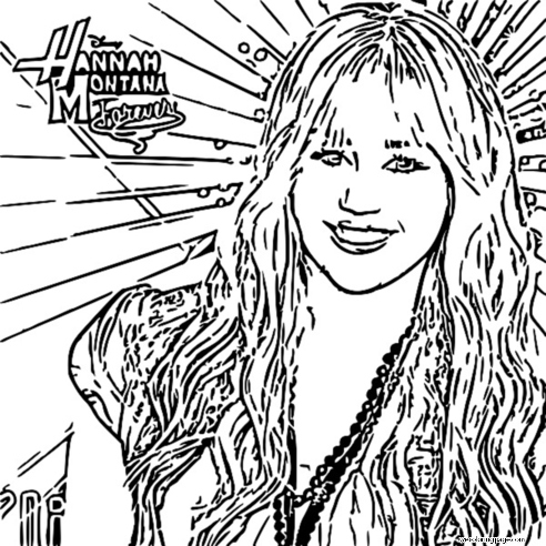 Hannah Montana Miley We Coloring Page 62