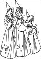 Happy Aurora Flora Fauna and Merryweather Free A4 Printable Coloring Pages