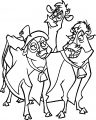 Home On The Range Mrs Calloway And Maggie Grace Cow Animal Coloring Pages