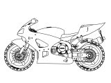 Honda Motorcycle Side View Coloring Page