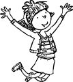 Illus Young Ab Arms Up Legs Bent Coloring Page