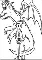 Imposing American Dragon Jake Long Free A4 Printable Coloring Page