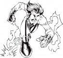 Impuls Cartoon Character Coloring Page 01
