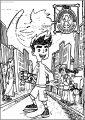 Italiano Season Street American Dragon Jake Long Free A4 Printable Coloring Page
