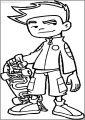 Jack American Dragon Jake Long Free A4 Printable Coloring Page