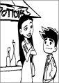 Jake And Jasmine American Dragon Jake Long Free A4 Printable Coloring Page