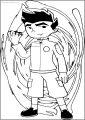 Jake Long Turn American Dragon Free A4 Printable Coloring Page