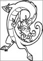 Jakel Jake Long Dragon Free A4 Printable Coloring Page