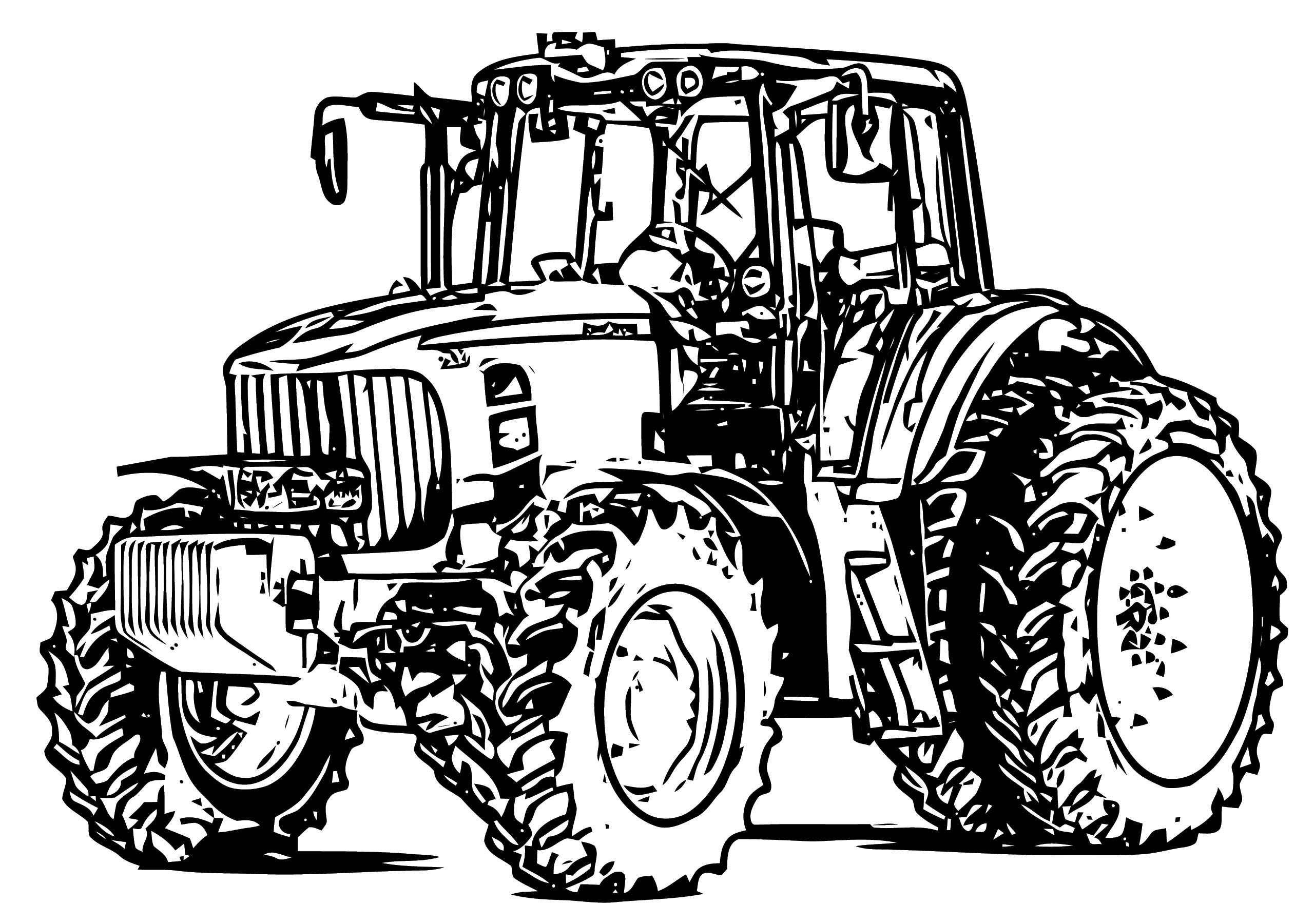 John Johnny Deere Tractor Coloring Page WeColoringPage 06