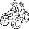 John Johnny Deere Tractor Coloring Page WeColoringPage 09