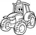 John Johnny Deere Tractor Coloring Page WeColoringPage 12