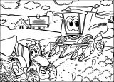 John Johnny Deere Tractor Coloring Page WeColoringPage 19