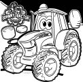 John Johnny Deere Tractor Coloring Page WeColoringPage 23