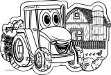John Johnny Deere Tractor Coloring Page WeColoringPage 27