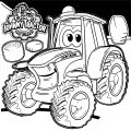 John Johnny Deere Tractor Coloring Page WeColoringPage 28