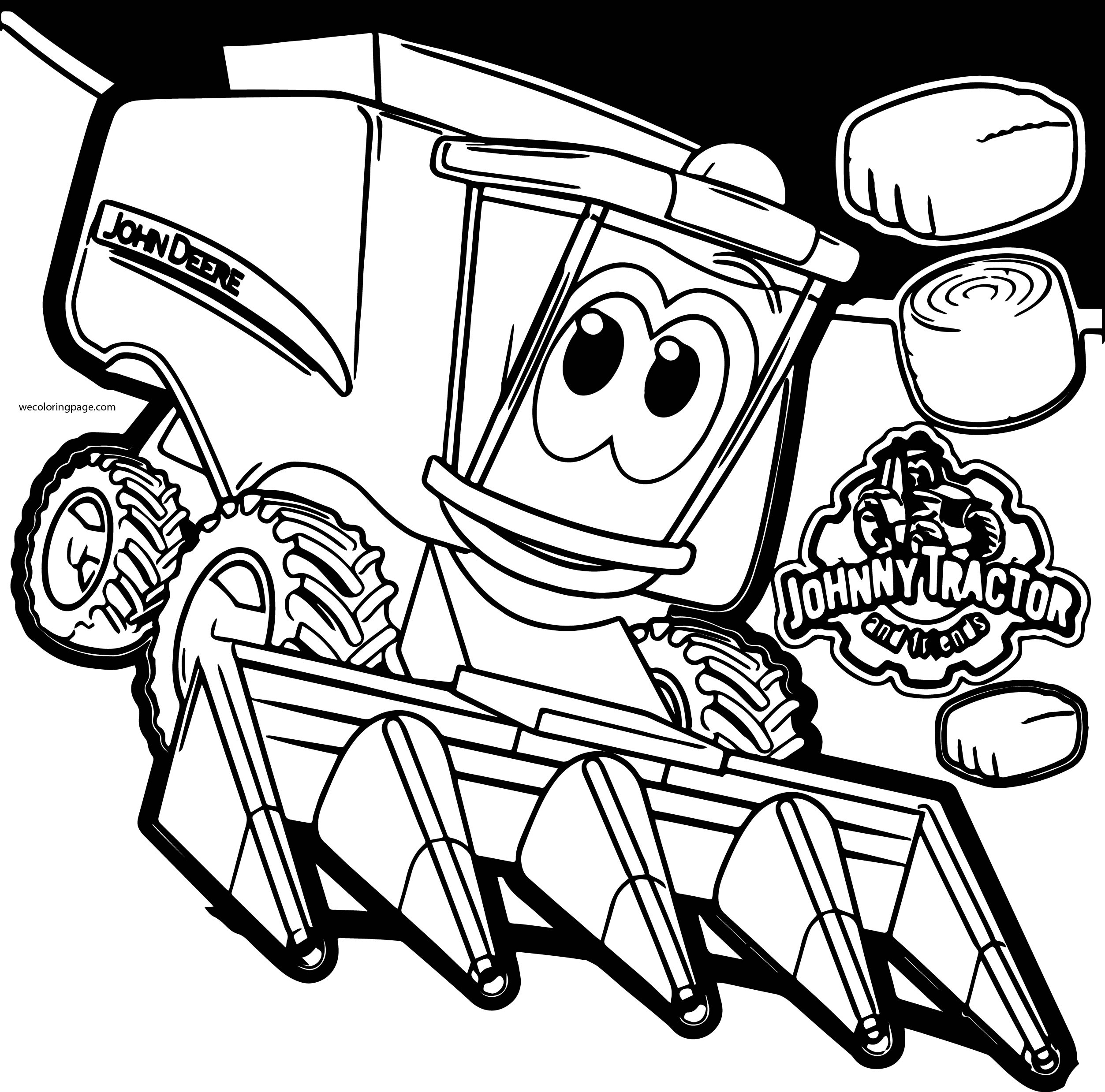 John Johnny Deere Tractor Coloring Page WeColoringPage 33