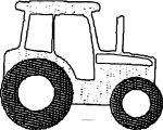 John Johnny Deere Tractor Dot Coloring Page