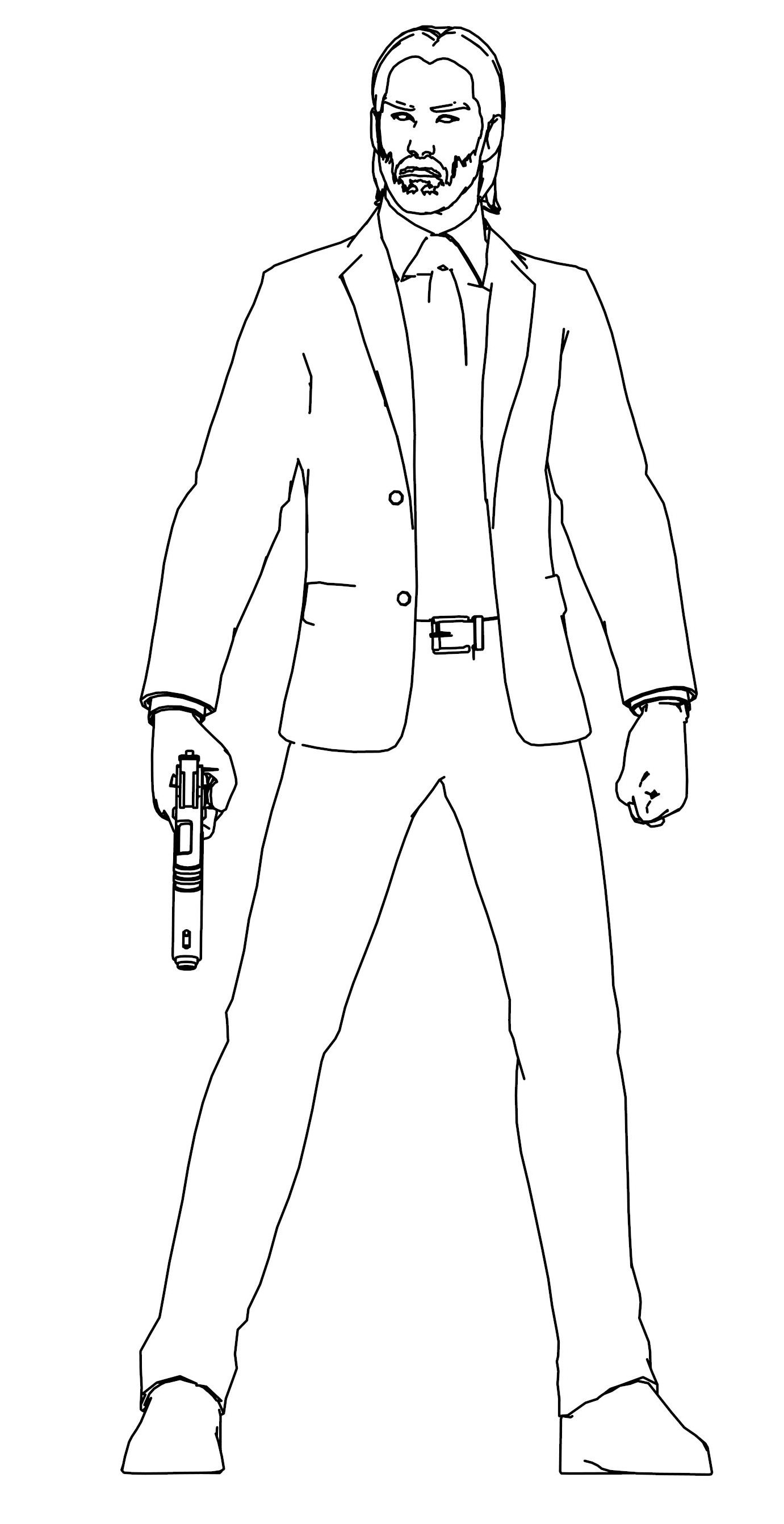 John Wick Coloring Page